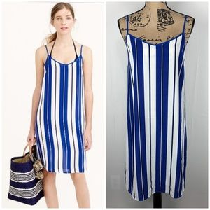 J. Crew NWT Crepe Beach Cover Up Dress In Stripe